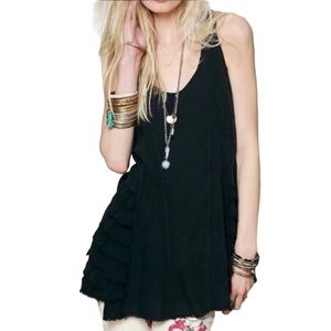 Intimately Free People Black Tunic Top S